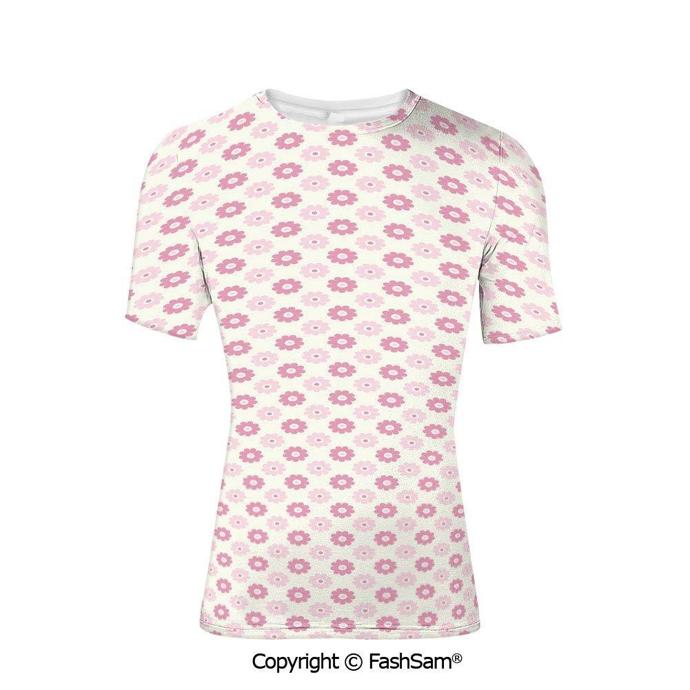 Fashion Printed T-Shirts Pastel Tone Tulip Flower Aged Ottoman National Symbol P