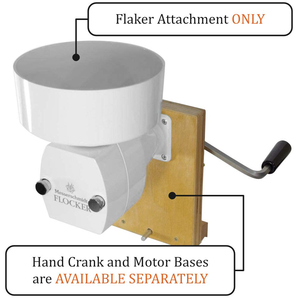 Hand-Operated Oat Flaker Roller Mill Attachment with Surgical Stainless Steel Roller - Works with Hand Crank Base or Motor Base - Flaker Mill Attachment by Family Grain Mill by Family Grain Mill (Image #2)