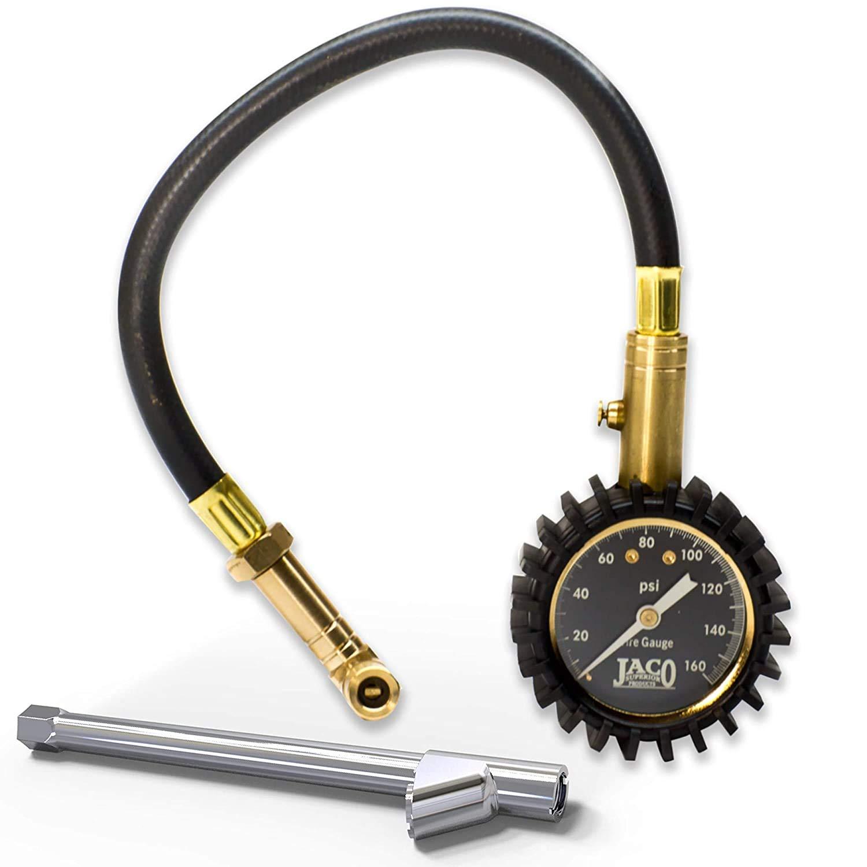 Jaco EliteProPlus Tire Pressure Gauge with Dually Air Chuck
