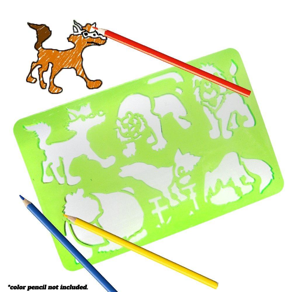 Design Safari Animal Stencil with 6 Animals Durable Stencil for Arts and Crafts dazzling toys Stencil