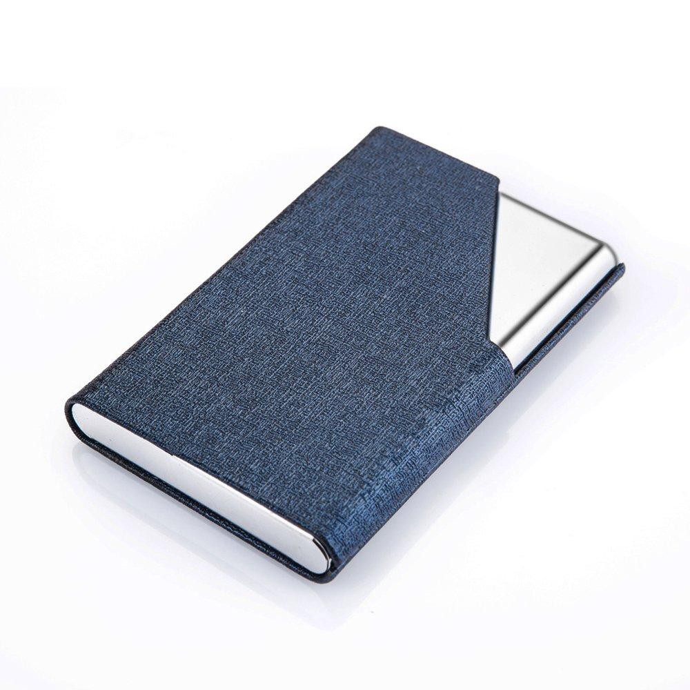 DMFLY Business Name Card Holder Luxury PU Leather & Multi Card Case ...