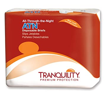 Tranquility 2187 All-Through-The-Night Disposable Briefs-XL-72/
