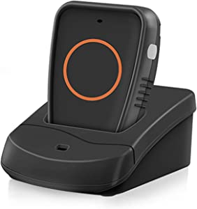 Hosmart Wireless Two-Way Conversation Caregiver Pager Call Button for Elderly Senior Patient Personal Alert Alarm Nurse Call Button for Home Safety Alert System(Single Pager)
