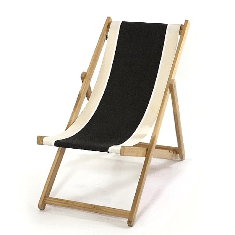 LONA 折りたたみ 木製 キッズビーチチェア ブラック×ベージュ×ナチュラル 約48×62×H72cm B01C9PJ0OA ブラック×ベージュ×ナチュラル ブラック×ベージュ×ナチュラル