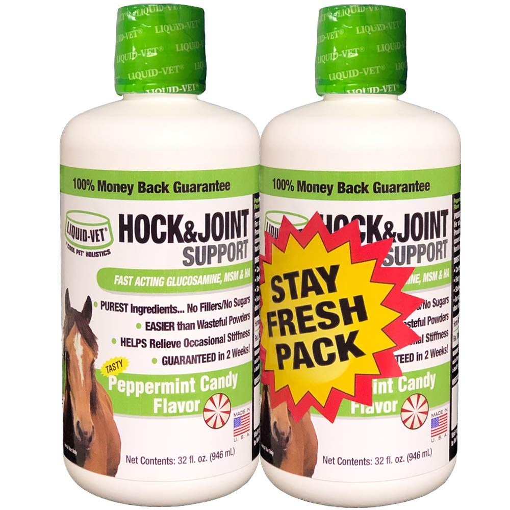 Liquid-Vet Equine Hock & Joint Support Formulas, Peppermint Flavor by Liquid-Vet by COOL PET Holistics