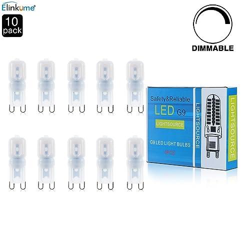 ELINKUME 10er Pack G9 Dimmbare LED 3W Lampe LED Leuchtmittel,vgl. 25W  Glühlampe