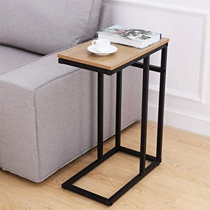 amazon com homemaxs sofa side end table c table for small space rh amazon com diy sofa c table 9 sofa table