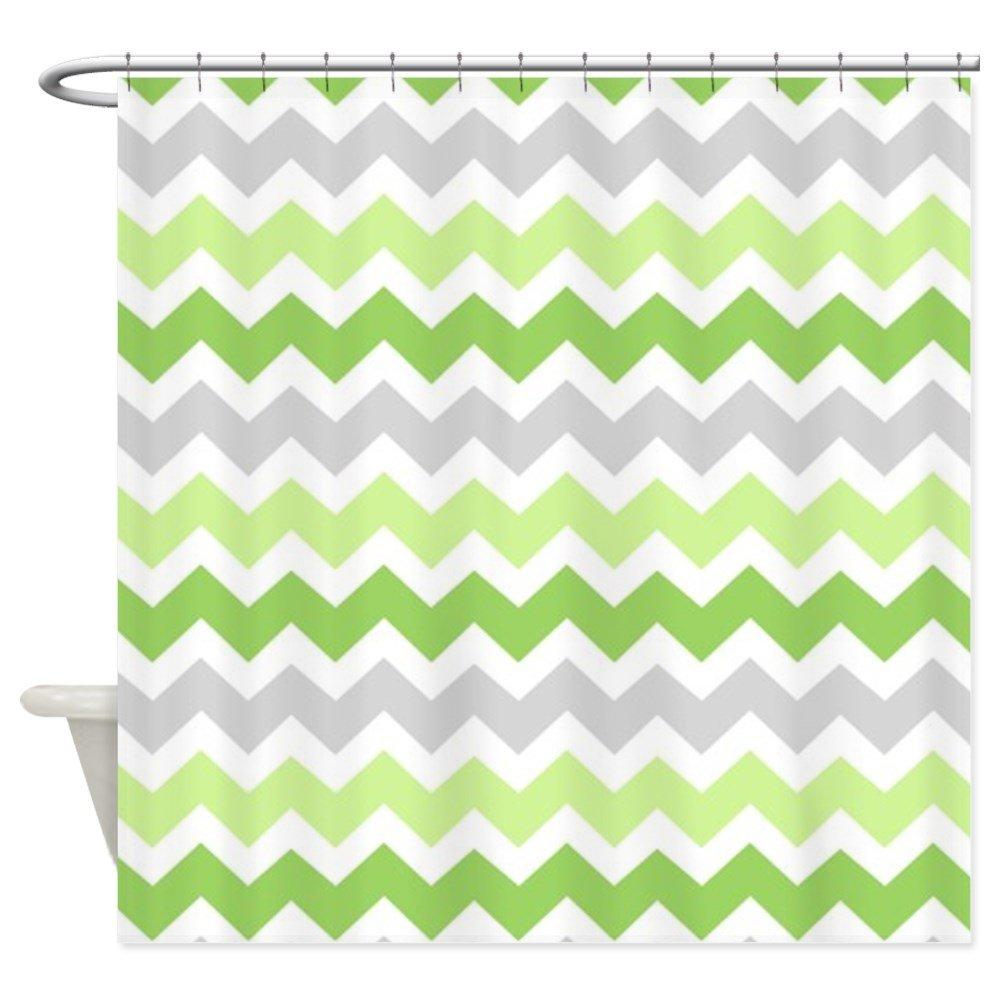 Amazon CafePress Lime Green Grey Chevron Shower Curtain Decorative Fabric 69x70 Home Kitchen