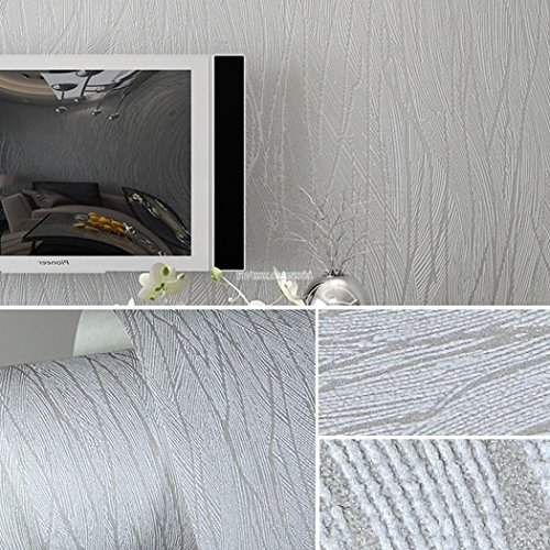 starwer-10m-simple-wave-line-non-woven-modern-wallpaper-roll-flocking-embossed-textured-fv88-silver
