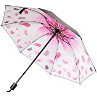 Ukerdo Creative Blue Flower Sunscreen Rain Umbrella Folding Gift Portable Outdoor Umbrellas - Inside Printing