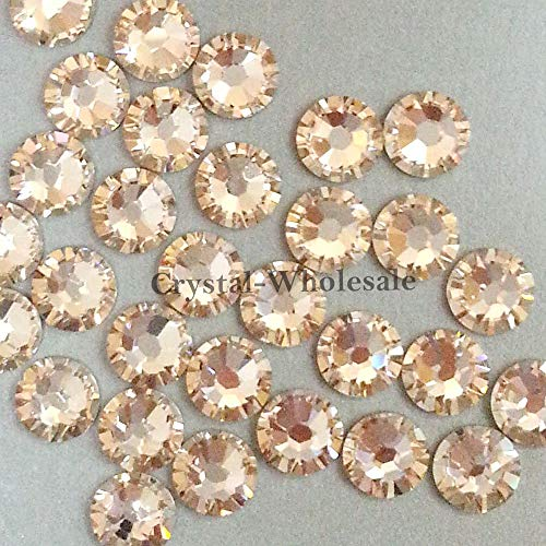 (Swarovski 2058 Foiled Flatbacks SS12 Light Silk No Hotfix Rhinestones, Choose Quantity (288))