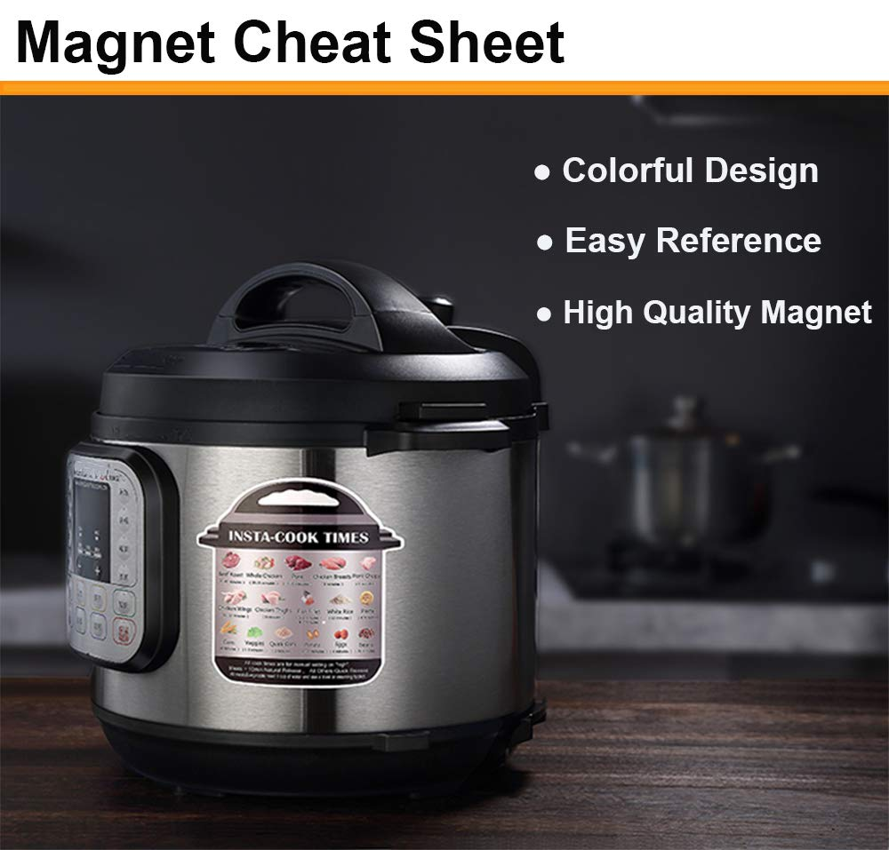ULEE Accessories Compatible with Instant Pot 6 Qt - Including Steamer Basket, Glass Lid, Springform Pan, Egg Rack, Oven Mitts, Magnetic Cheat Sheet, Spoon Rest by ULEE (Image #5)