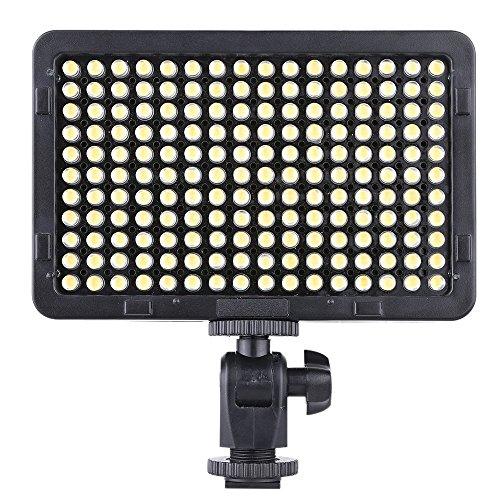 Andoer® 176 Pcs LEDs Portable Video Studio Photography Light Panel 5600K for Cannon Nikon Pentax Olympus Camcorder DSLR Camera - Led Light Cannon