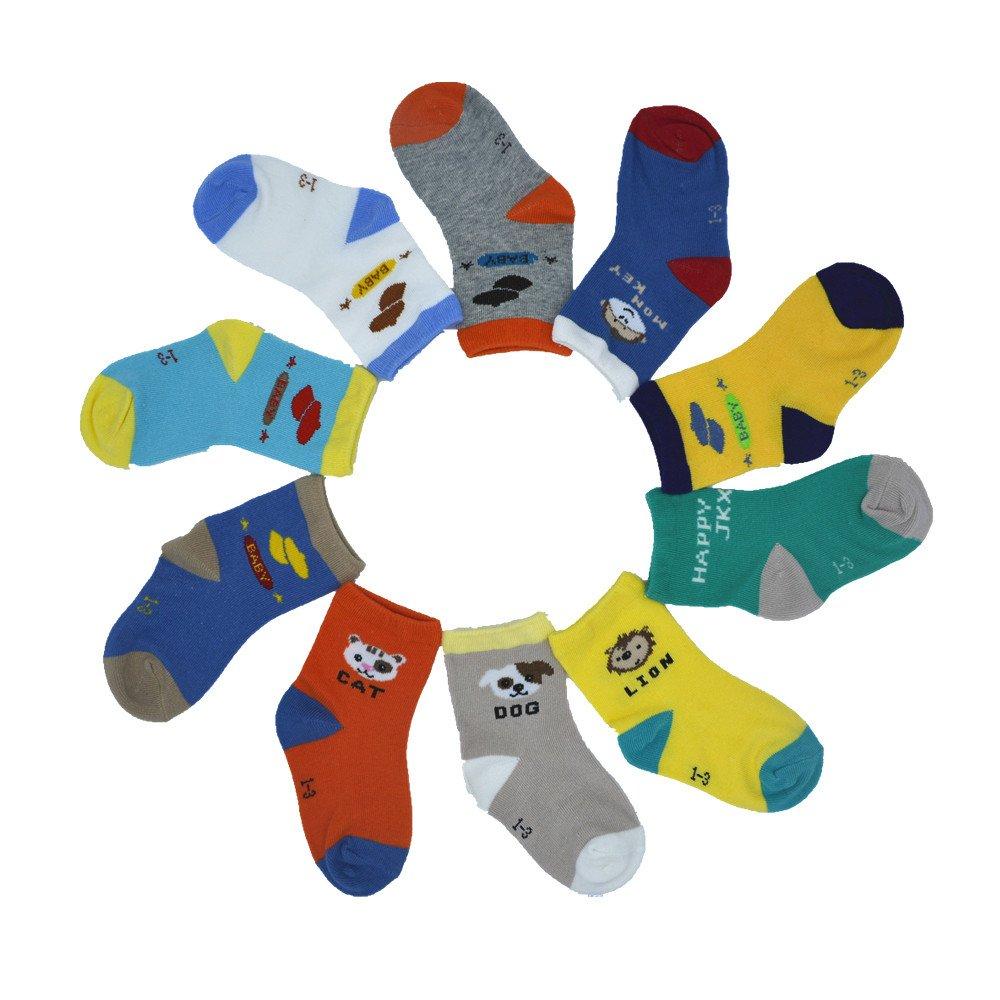 Baby Socks BOMPOW Toddler Socks 12-18 Month 10 Pack BOMPOW 10 Pack Baby socks