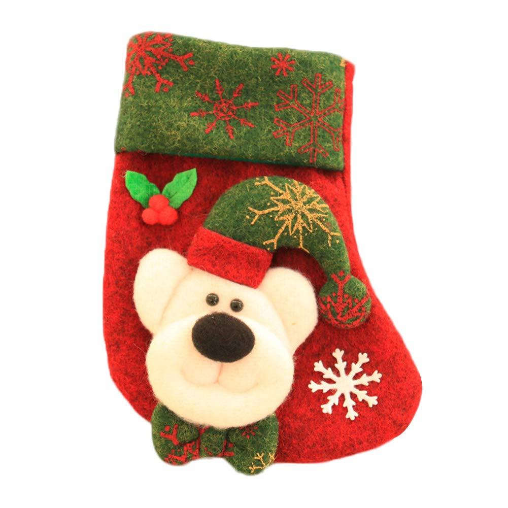 Da.Wa Grandes Chaussettes de Noël Deco Noel Deco Ornement Suspendu Noel décoration de Noel Cadeaux de Noël-Joyeux Noel Santa