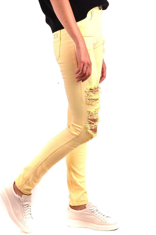 ELISABETTA FRANCHI Womens MCBI35649 Yellow Cotton Jeans