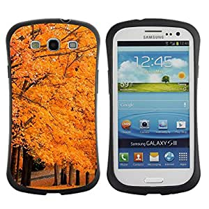 "Hypernova Slim Fit Dual Barniz Protector Caso Case Funda Para SAMSUNG Galaxy S3 III / i9300 / i747 [Árbol del otoño""]"