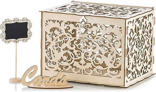 Nuptio Caja para Tarjetas De Boda DIY Caja para Tarjetas De Regalo ...