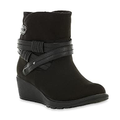 81b4ddc0bf3b Image Unavailable. Image not available for. Color  Joe Boxer Women s  Rosette Black Ankle Boot ...
