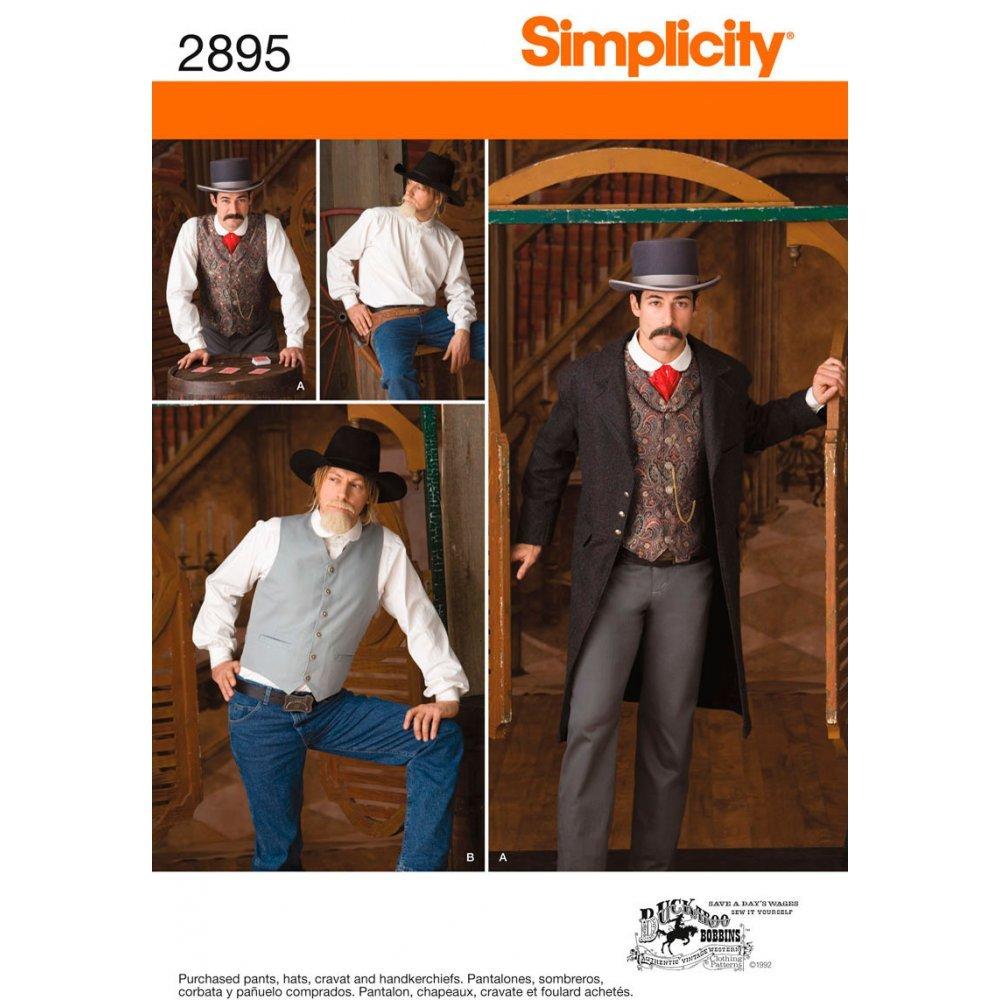 Simplicity Schnittmuster 4923/BB Herren Kost/üme