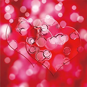 7x7ft Valentines Day Background Red Hearts Cardiac with Indentation Bokeh Haloes Backdrop Polyester Girls Adult Lovers Portrait Shoot Greeting Card Wallpaper Bridal Shower Studio Props