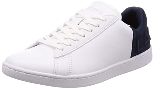 16cdc7e10 Lacoste Womens White Navy Carnaby Evo 318 3 Trainers-UK 8  Amazon.co ...