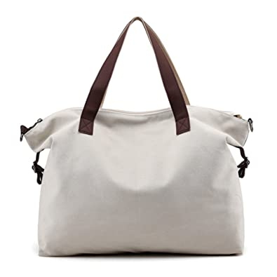 Sanxiner Top Handle Handbag Tote Bag Canvas Crossbody Bags for Women (Beige) 16148339ac