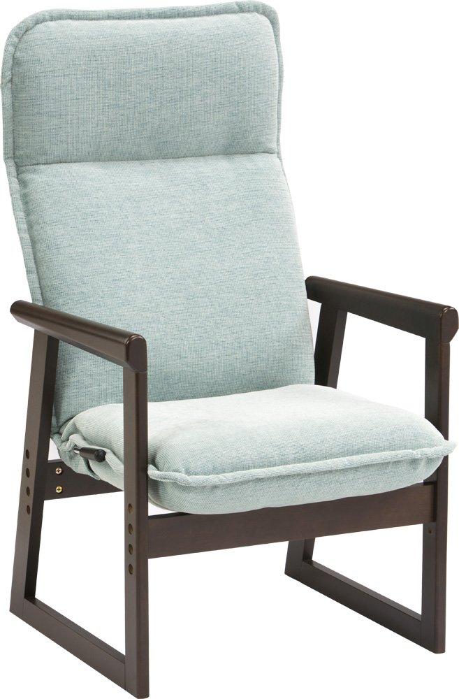 エムール 高座椅子 「ひなた」 14段階リクライニング/高さ調整ができる ブラウンブルー B00TTVVHYY ブラウンブルー ブラウンブルー