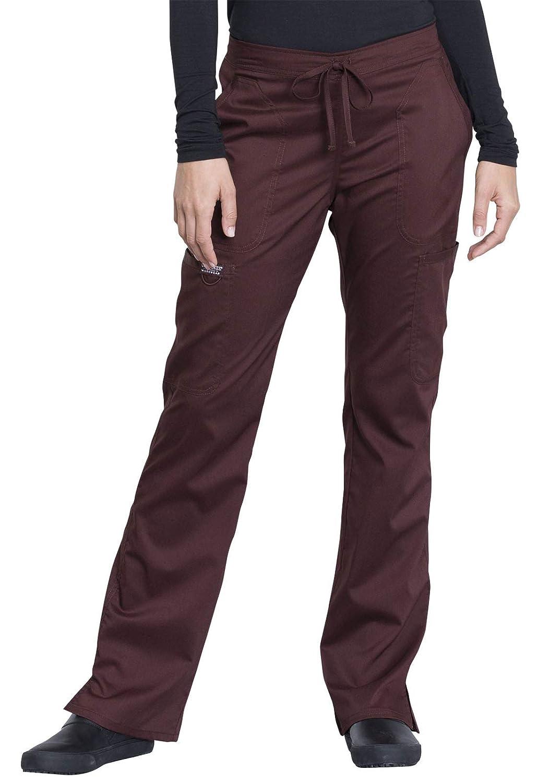 09c0708c0bd Amazon.com: Cherokee Workwear Revolution Women's Mid Rise Moderate Flare  Drawstring Scrub Pant: Clothing