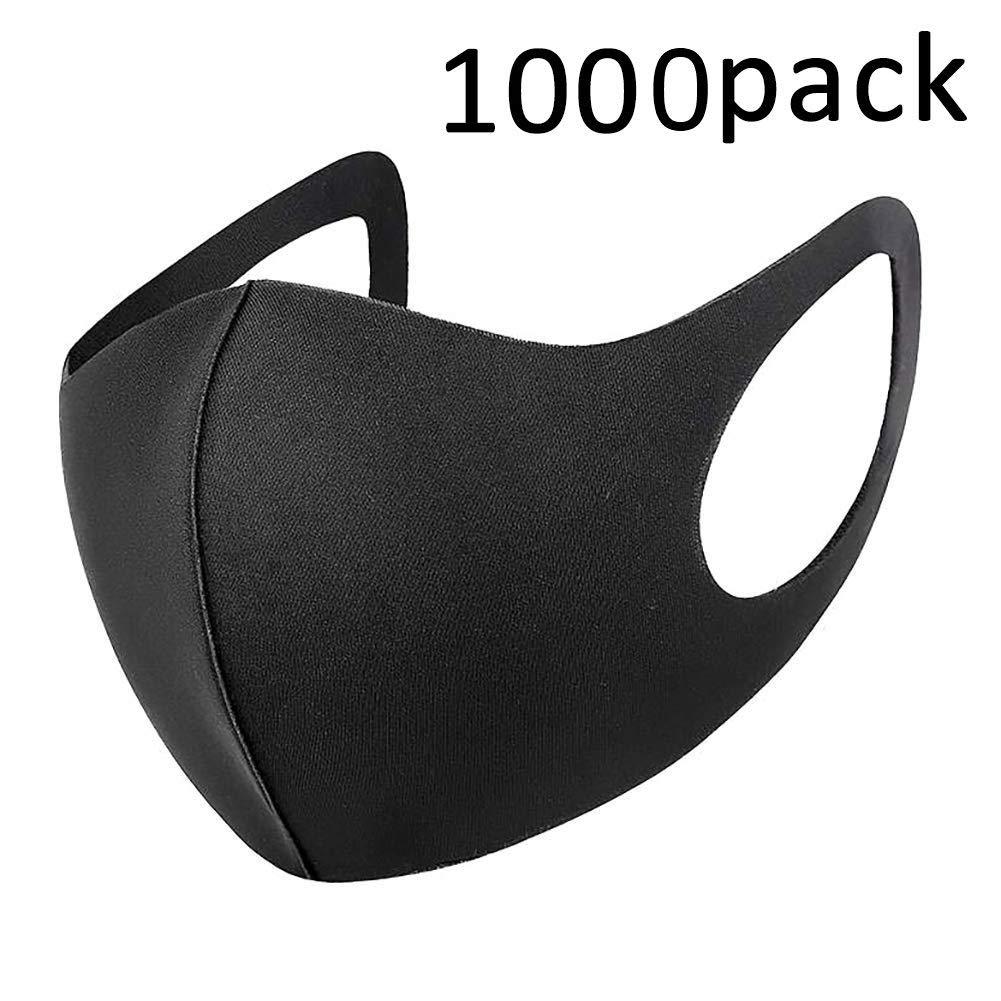 Flyglobal 1000Pack Máscara Antipolvo para la Boca, Reutilizable, Lavable, Unisex, Color Negro