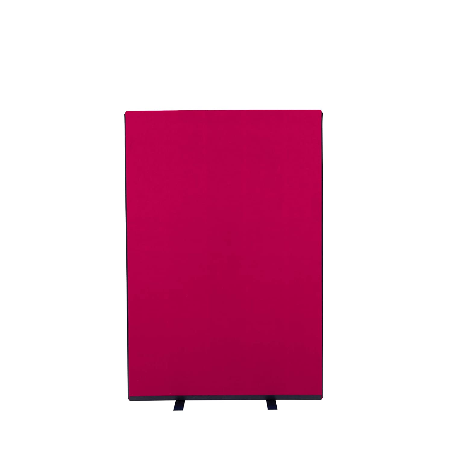 Wine 1000mm W x 1500mm H Panelwarehouse 1000mm W x 1500mm H Free Standing Office Partition Screens Room Divider Navy blueee Nyloop Fabric