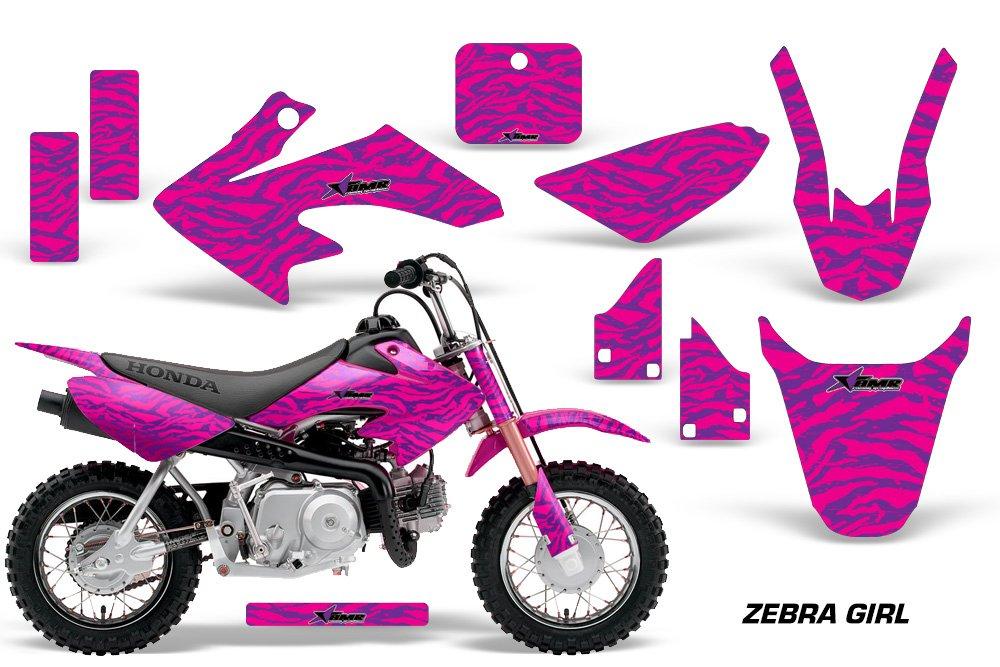 ホンダcrf50 2004 – 2013 MXダートバイクグラフィックキットステッカーデカールCR 50 Zebra   B073X8ZXCC