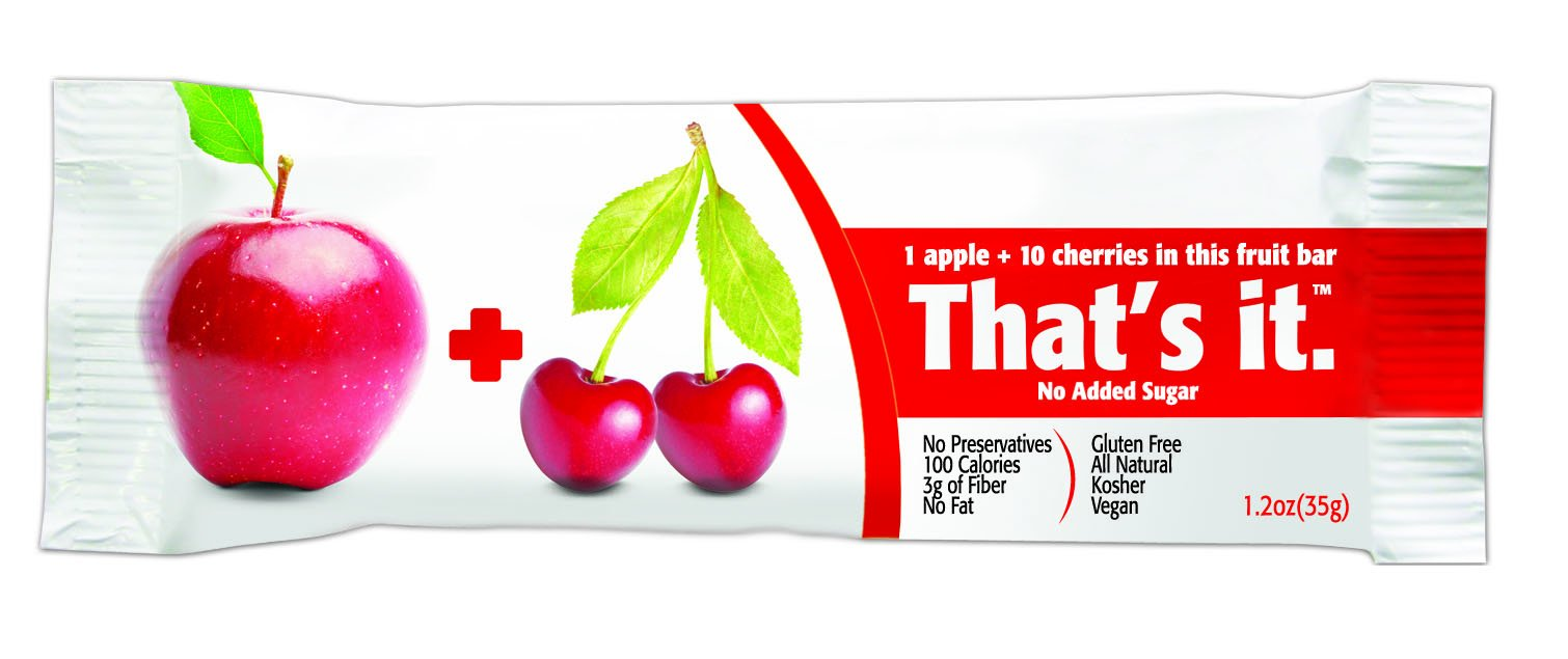 That's It Apple Cherry Snack Bar Gluten Free 1.2 oz, Pack of 144