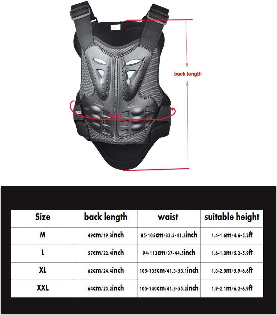 Madbike Gilet de Protection Moto Armor pour la Protection de la Poitrine et du Dos XXL