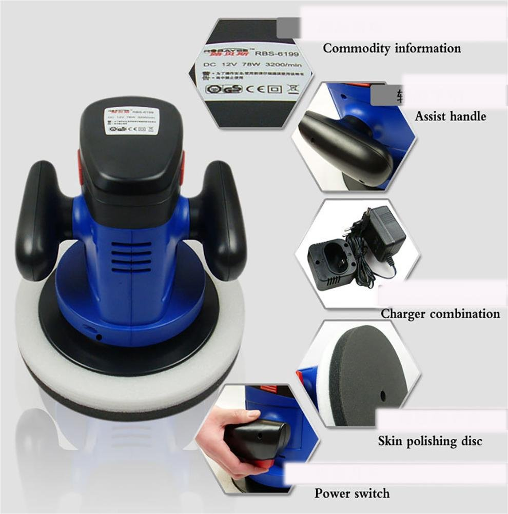 ROBAYSE 12V Cordless Rechargeable Car Polisher by ROBAYSE (Image #2)