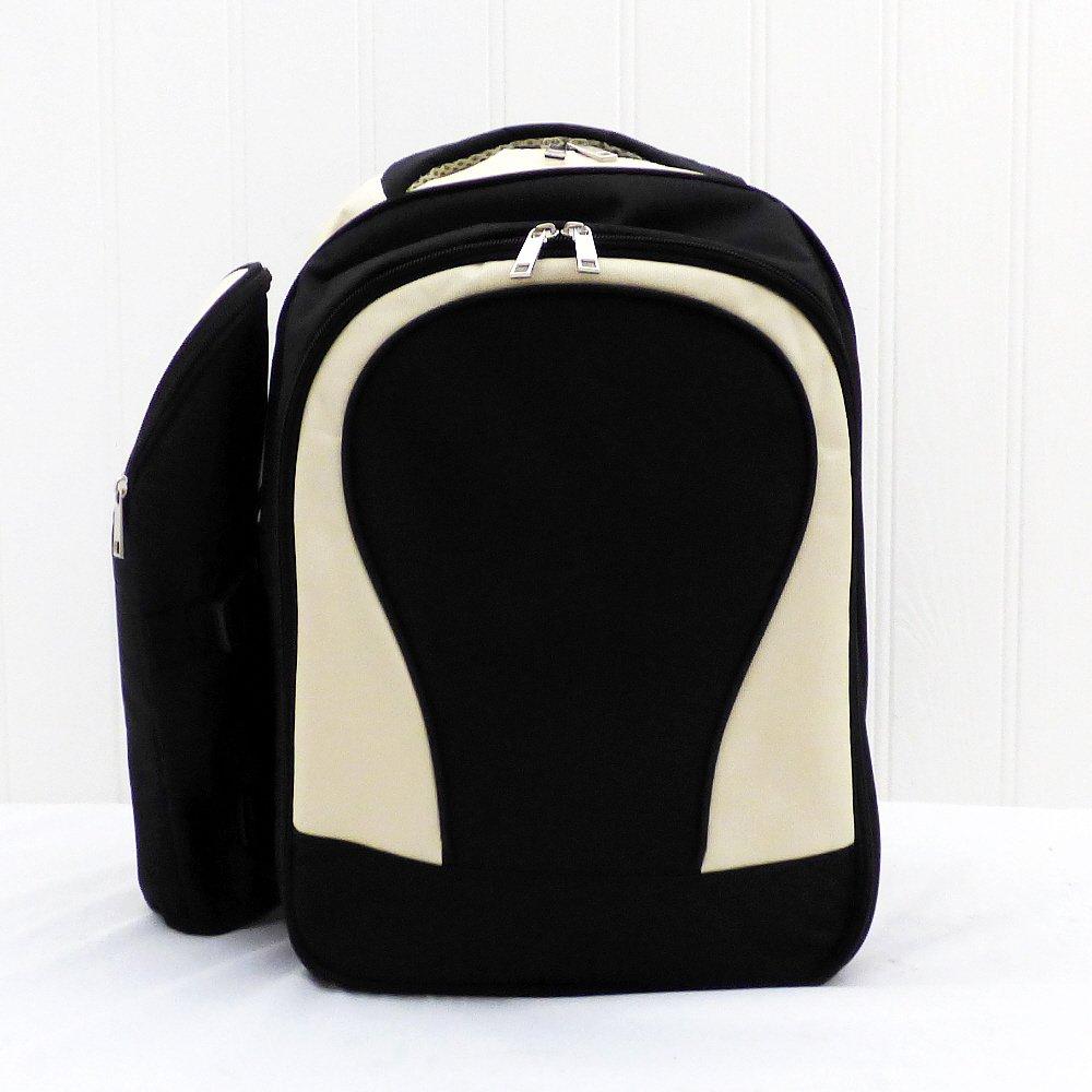 Picknick-Rucksack (4Person) in eleganten creme und schwarz