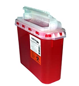BD Style 5.4 Qt Sharps Disposal Container | Oakridge Products | Touchfree Rotating Lid