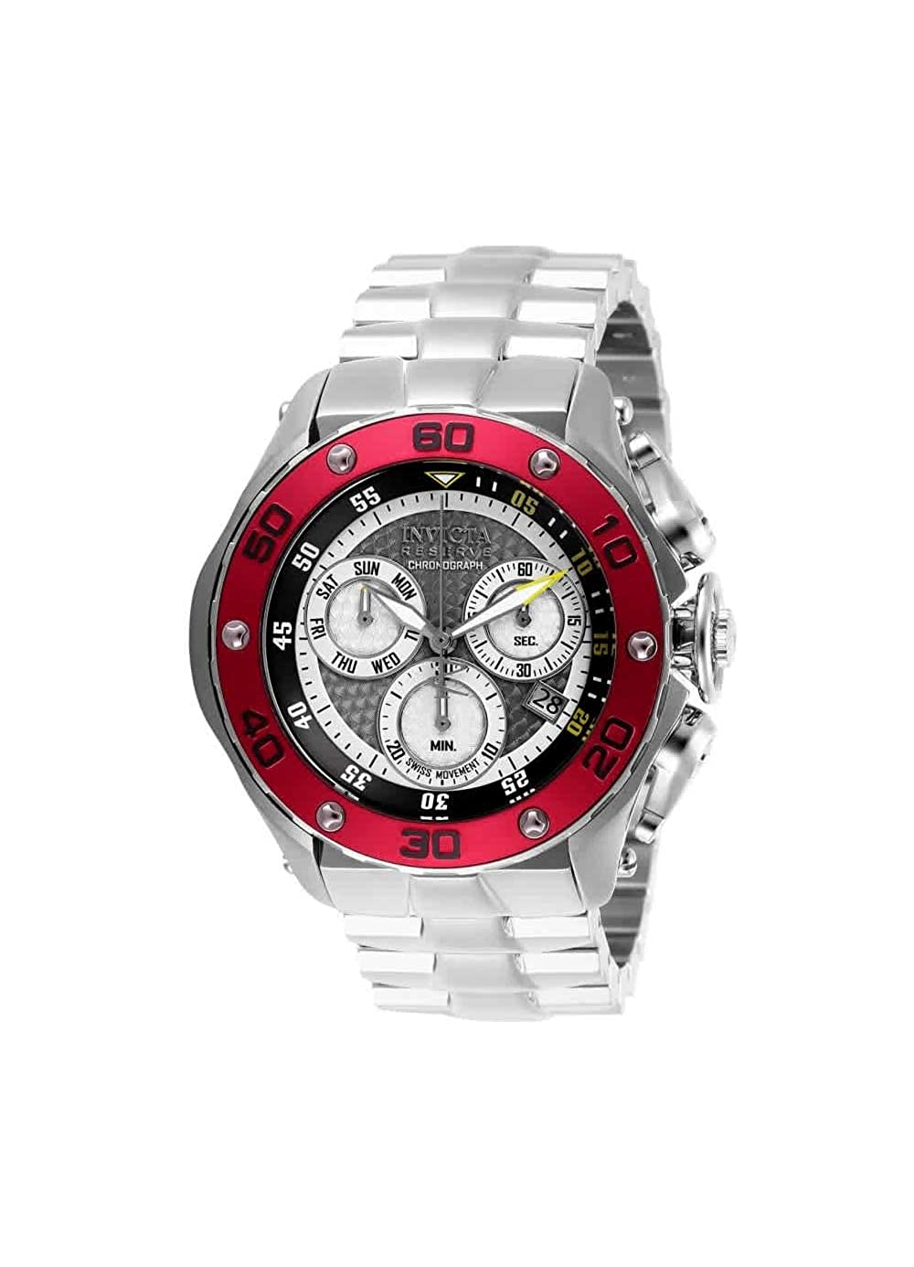 Invicta Men s Reserve Quartz Stainless-Steel Strap, Silver, 26 Casual Watch Model 26568