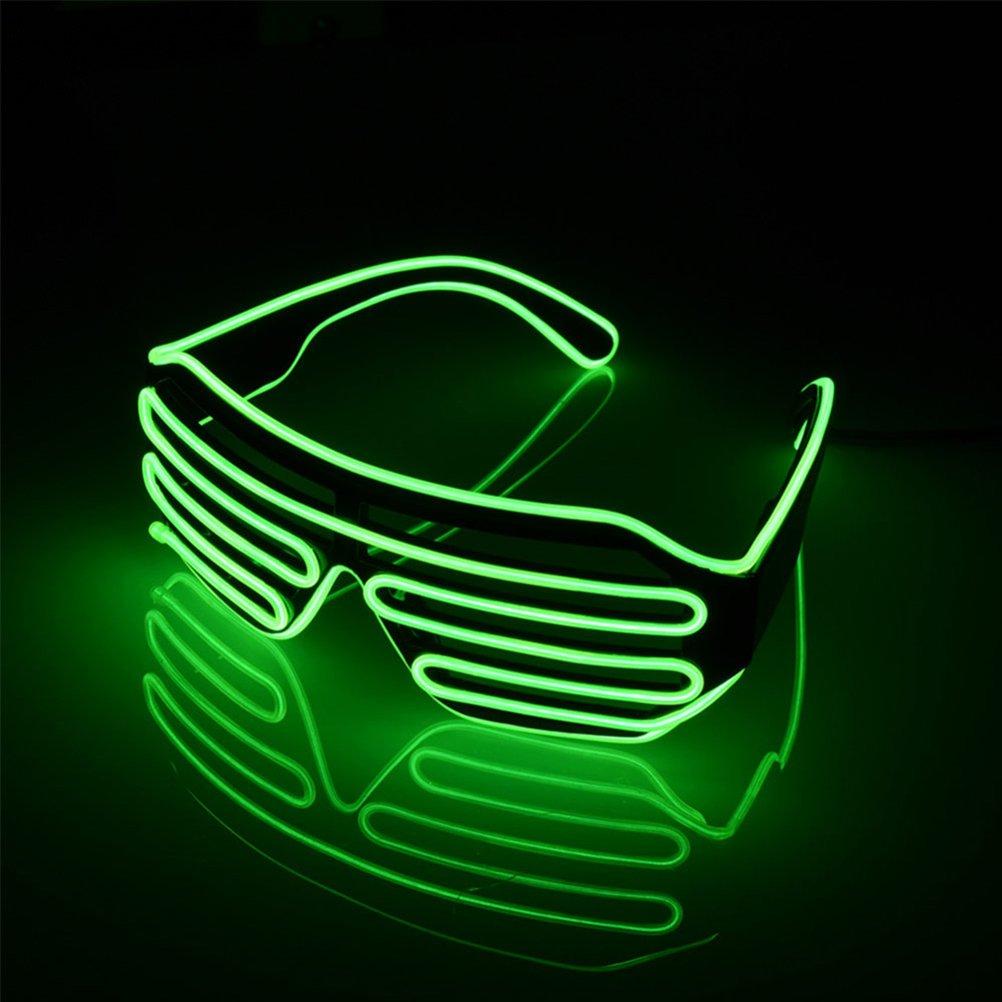 LEDMOMO Blinkende LED-Show-Spielzeug-Gläser leuchten Slotted Shutter Sonnenbrillen Shades Party Favors (grün) m7PK0ZJJR