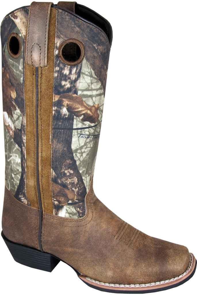 Smoky Mountain Women's Tupelo Camo Cowgirl Boot Square Toe - 6470 B004BQ5ME8 6.5 B(M) US|Brown