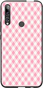 Okteq Case Cover for Huawei Y9 Prime 2019 Shock Absorbing PC TPU Full Body Drop Protection Cover matte printed - pink white small By Okteq