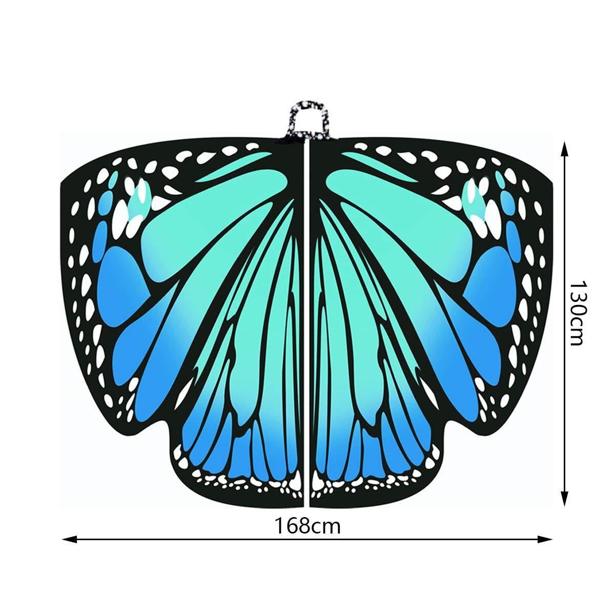 Neusky Frauen Schmetterlingsfl/ügel Bunt