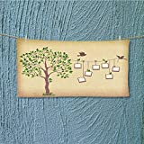SeptSonne towel bar memories tree with photo frames insert your photos into frames Multipurpose Quick Drying L27.5 x W13.8 INCH
