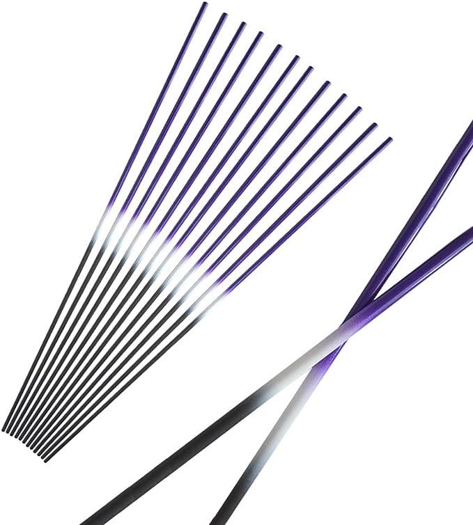 "12pcs 31/"" Pure Carbon Camo Arrows Spine 500 Bohning Vanes Blazer Archery Hunting"