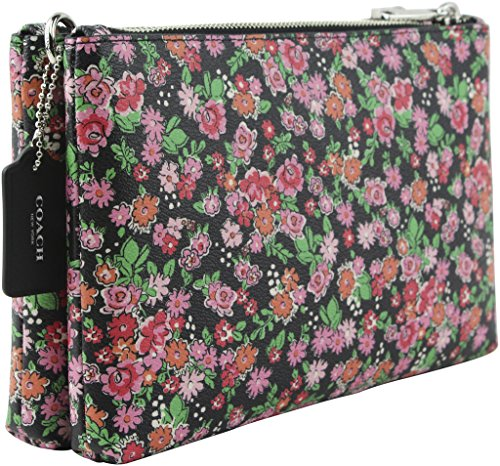 Silver Floral Double Pink Lyla Crossbody Zip Coated COACH in Crossbody Multi Canvas qaWzwTxRH