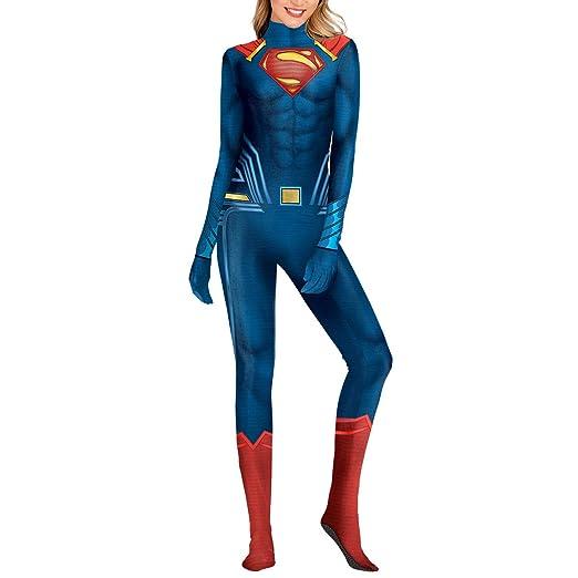 QQWE Superman Cosplay Disfraz Mujeres Hombres Liga de la ...