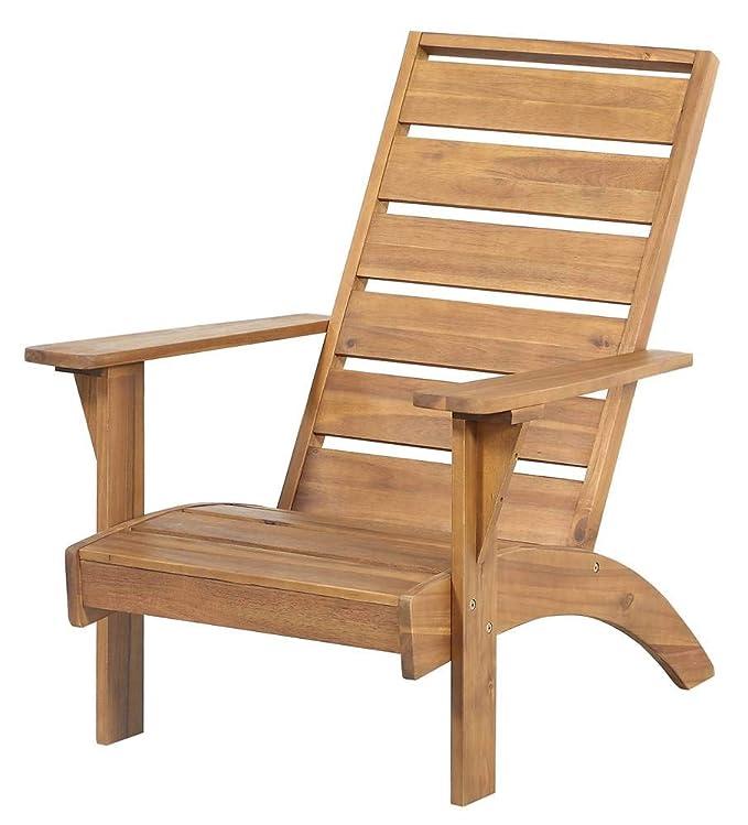 Amazon.com: Linon Rockport - Silla de exterior color marrón ...