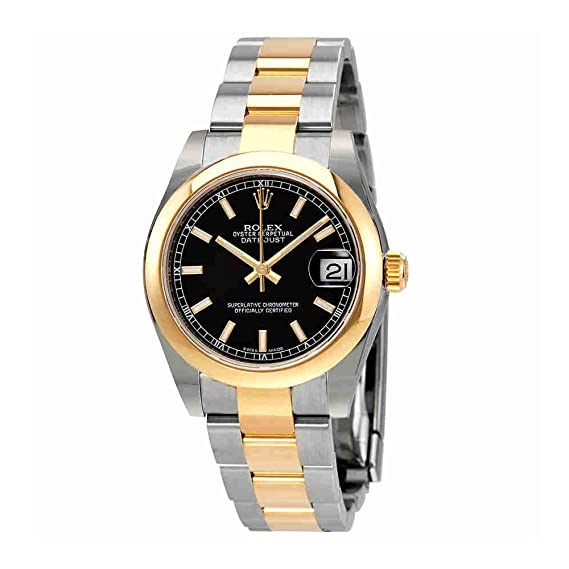Amazon.com: Rolex Datejust 178243 bkio Steel & 18K Yellow Gold Automatic Midsize Watch: Watches