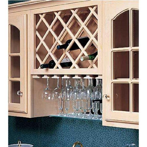Omega National Cabinet Mount Omega Premium Wine Lattice, 14 Bottle Capacity, 17 inch W x 36 inch H, Hickory ()