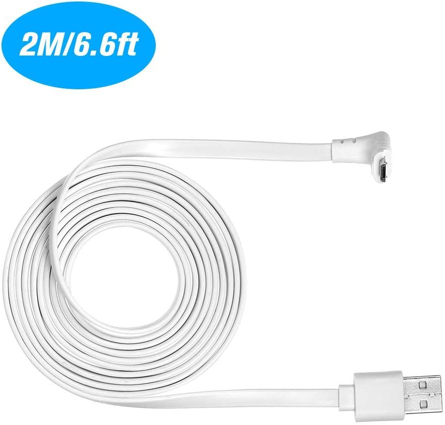 OWSOO C/âble dalimentation de Charge de sans fiche de 9M//29,5ft pour Produits de la S/érie Arlo Light C/âble Plat int/érieur//ext/érieur r/ésistant aux intemp/éries,c/âble Micro-USB de Charge 1PCS